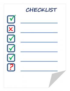 checklist camper