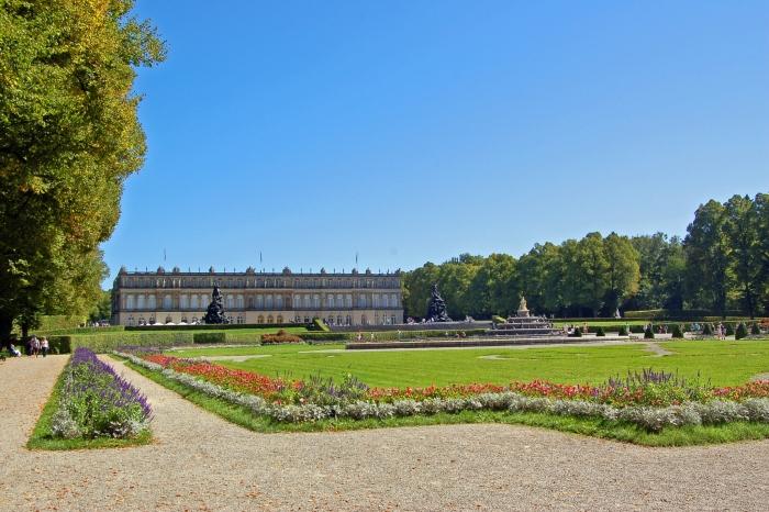Vista del Castello di Herrenchiemsee, viaggio in camper in germania