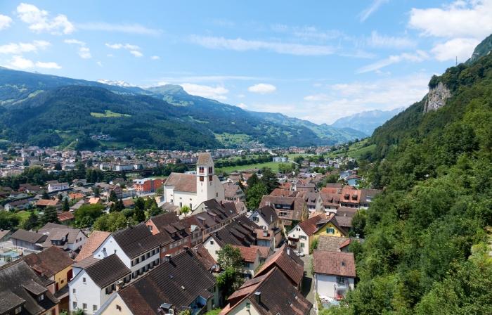 Veduta del Liechtenstein, germania in camper