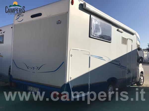 Camper Semintegrale Rimor blu camp sky 25 Camperis